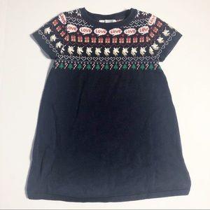H&M Christmas Holiday Sweater Dress 2-4